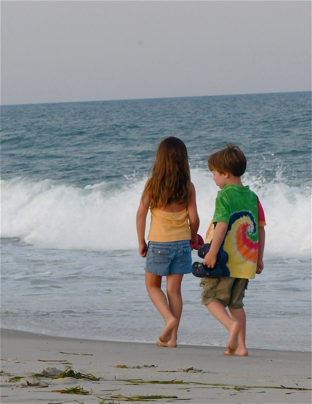 221MandB walking on shore