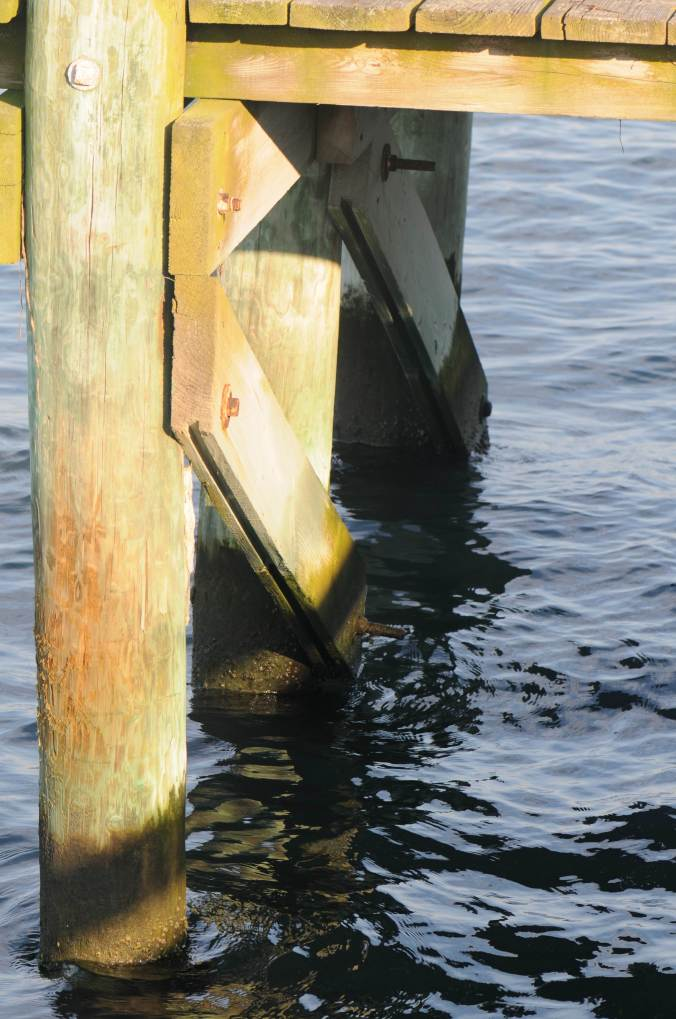 Water under the pier